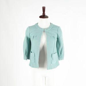 ANTHROPOLOGIE – Teal Wool Swing Jacket – Size 2